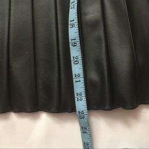 Alfani Skirts - Alfani Black pleated vegan leather skirt size 4